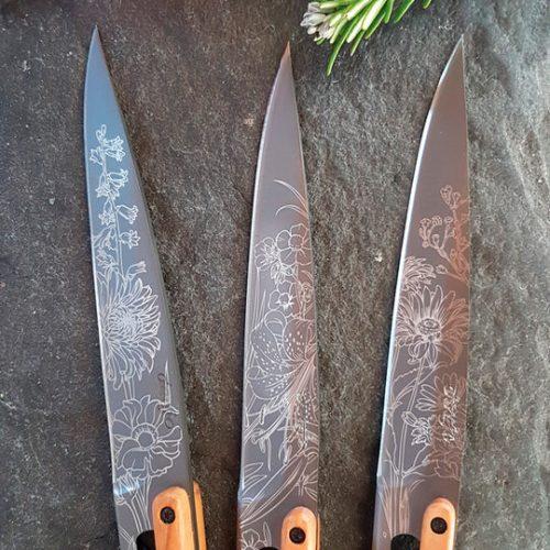 Deejo 'Blossom' – set of 4 table knives