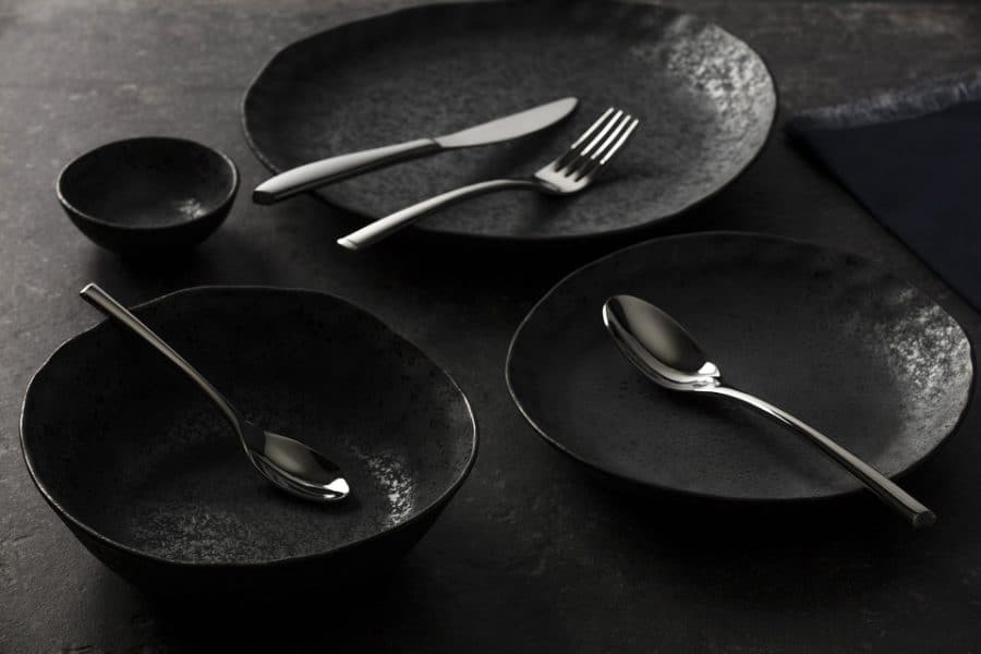 Beautiful product shot of the Shervin Verkil Rania collection with Inspiring cutlery collection