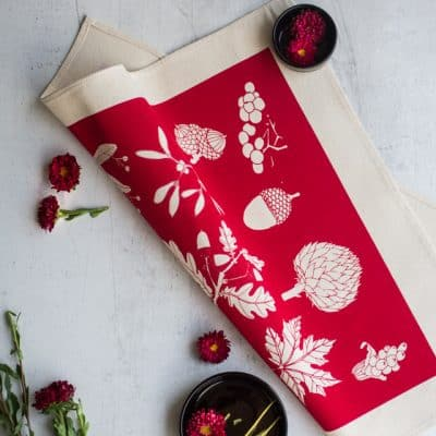 Lifestyle product image of Softer+Wild red table napkins