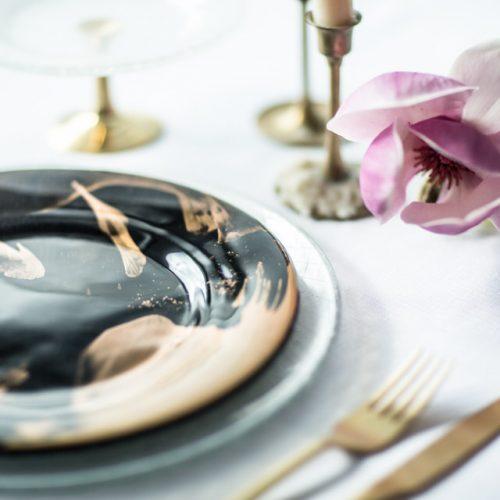 'Vossi' dinner plate set