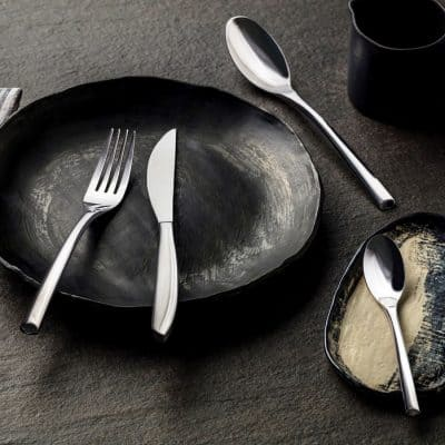 Classy mood product shot of the Shervin Verkil Inspired cutlery collection