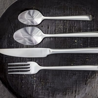 Classic side view product shot of Shervin Verkil Beauty cutlery range