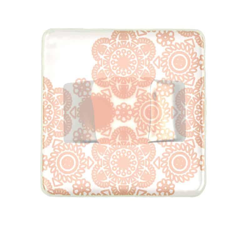 Aerial product shot of Anna Vasilu Susa square napkin holder in cream