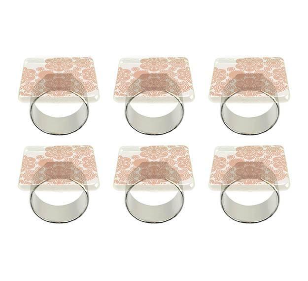 Susa square napkin holder set of 6