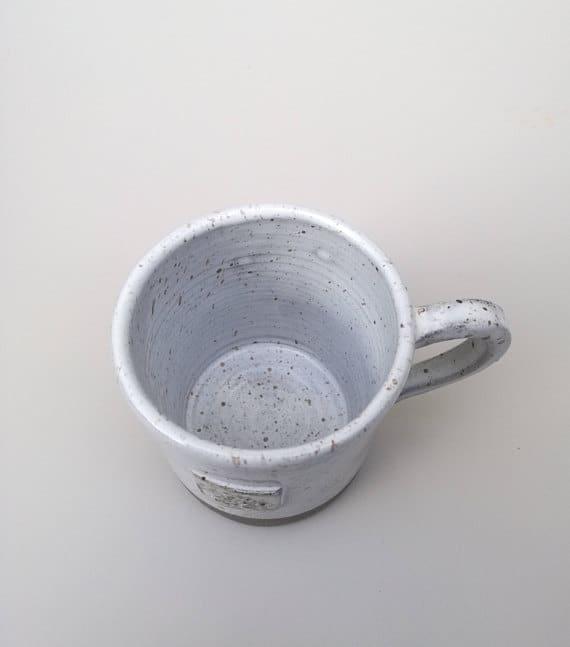 Sofia Ceramics aerial view product shot of the Goose egg ceramic cup