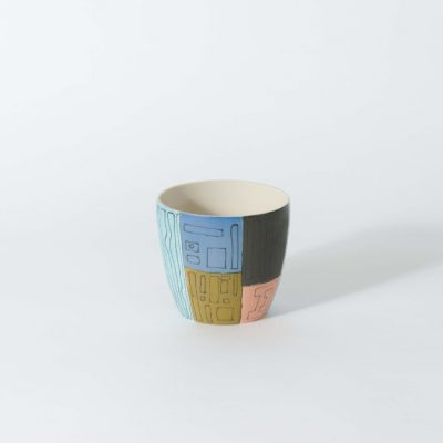 Product shot of the Comic Porcelain cup