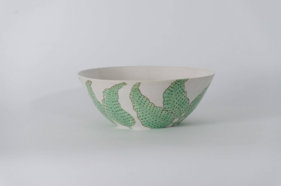 Product shot of the Jungle Leaves bowl