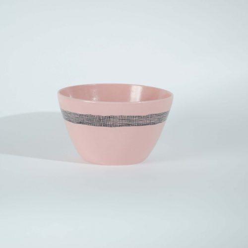'Pink Weave' Porcelain Bowl