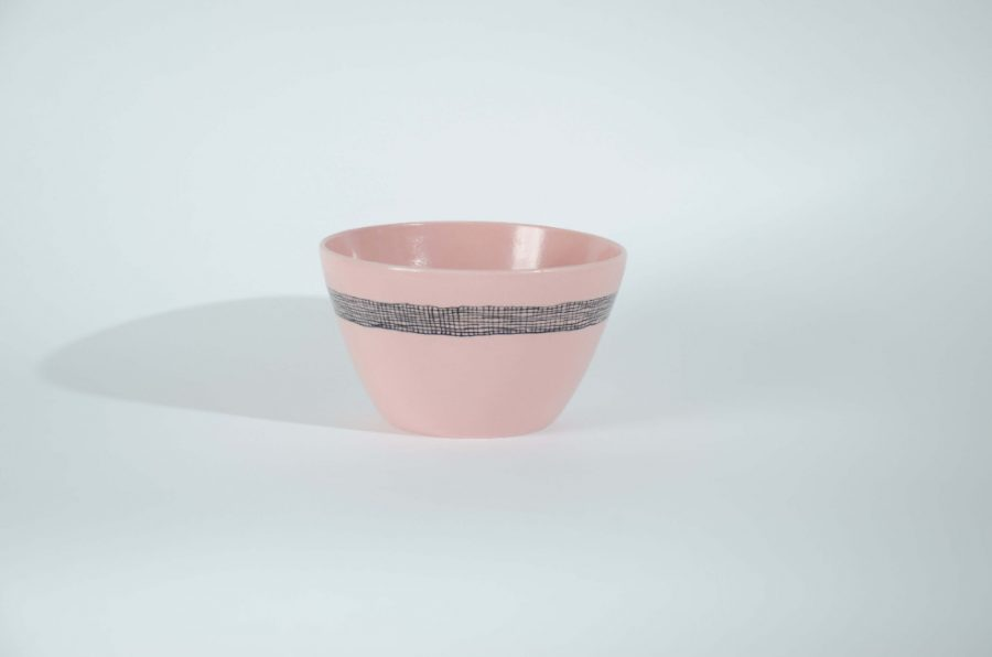 Product image of the Pink Weave Porcelain bowl