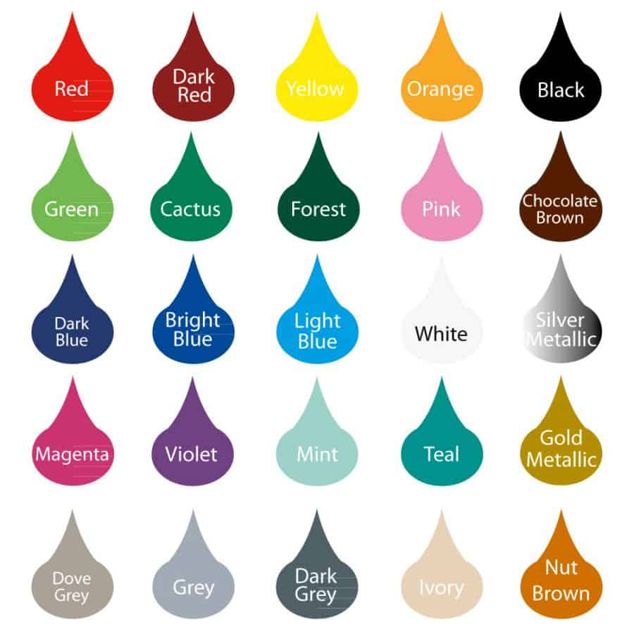 Wall decal colour palette