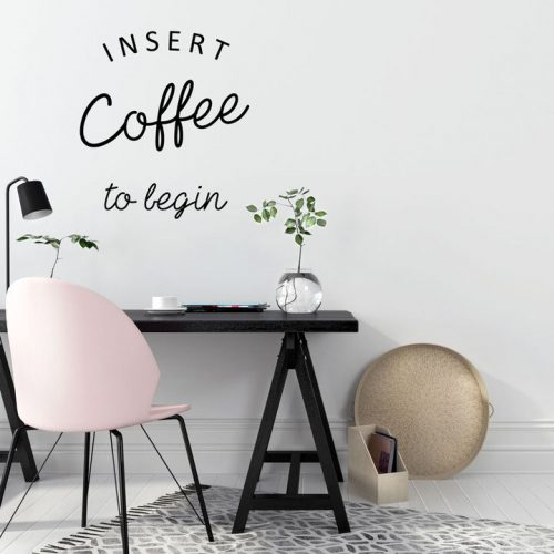 'Coffee' quotation wall decals