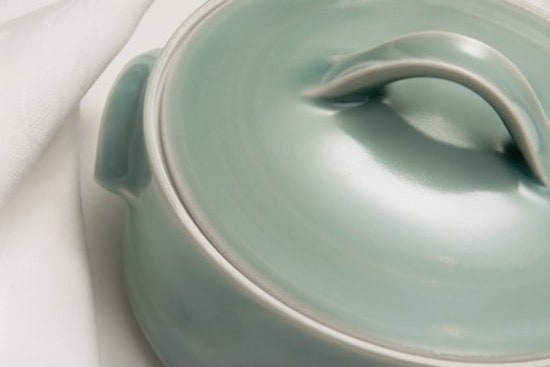 Close up shot of Sally Gordon handmade ceramic individual casserole