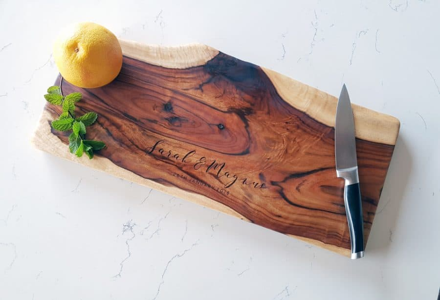 Large Natural Edge wooden chopping board