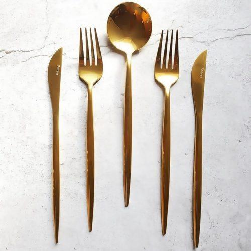 Golden Cutlery set – 16 piece