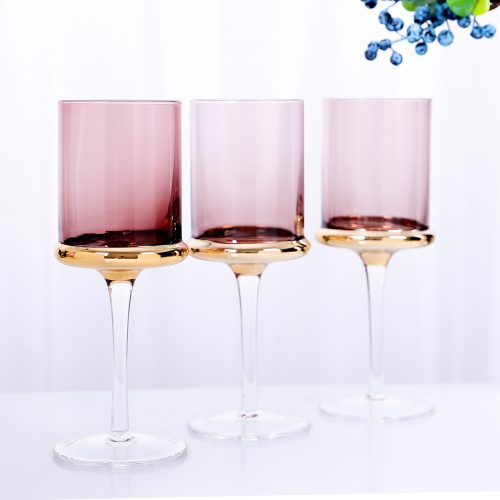 Edge Colored Wine Glasses (Set of 4)