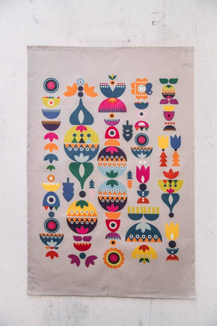 Flat product image of Solstice tea towel