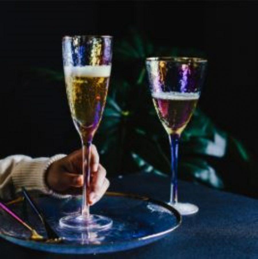 Lumière Arrosée-C Set of 4 Champagne Glasses