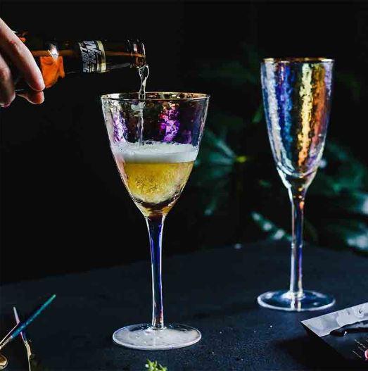 Lumière Arrosée set of wine glasses