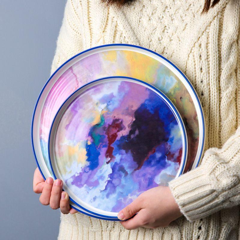 4-piece-dinner-plate-set-reve-ciel modelled shot